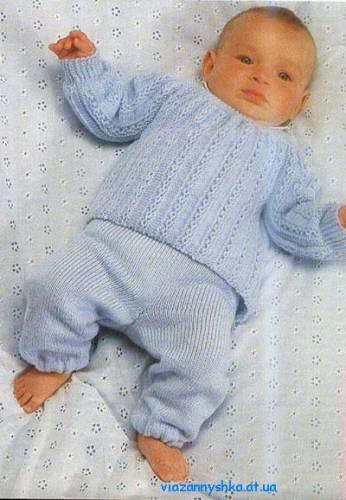 Рхемы вязания спицами детской одежды