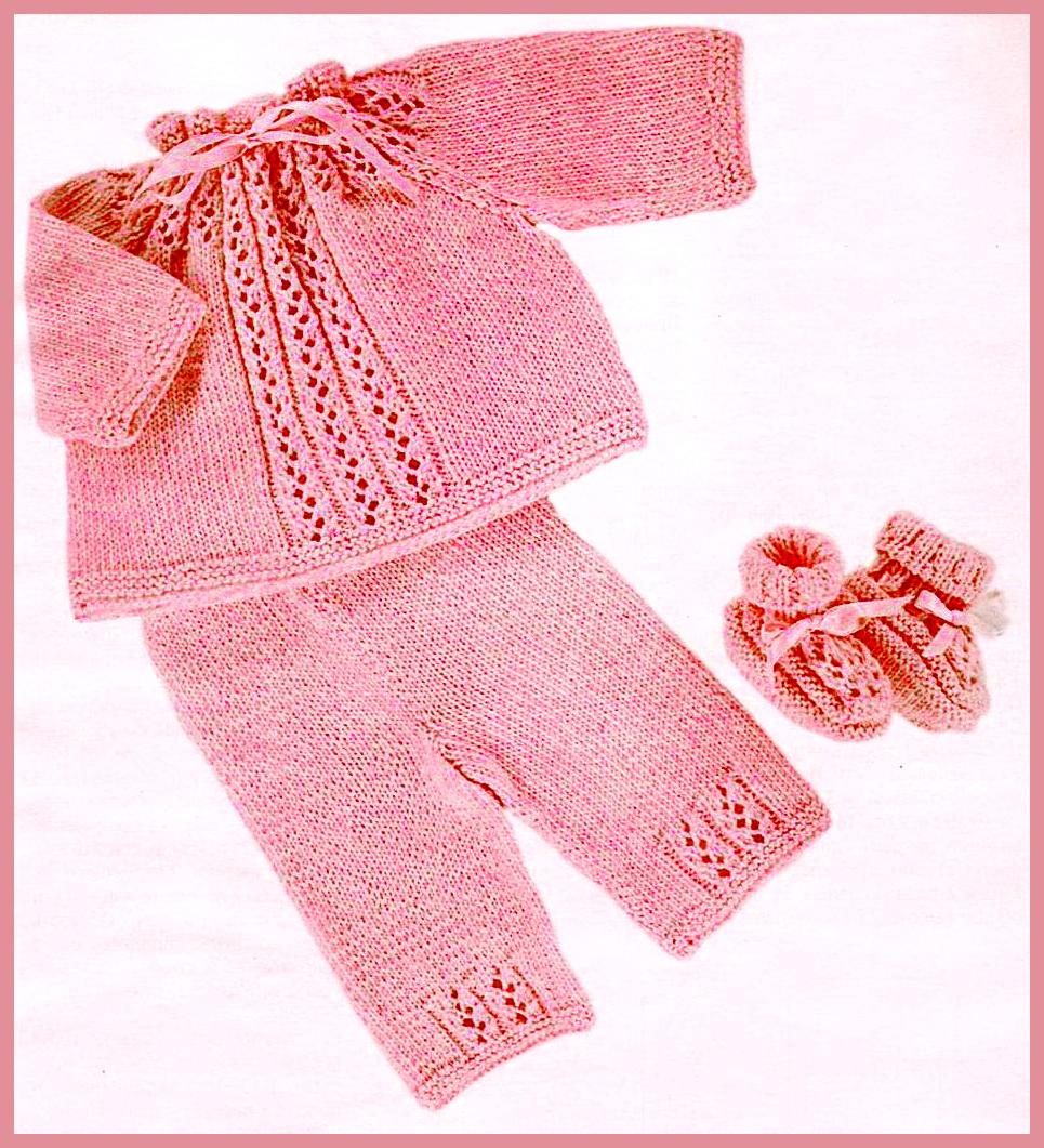 Схемы для вязания костюмов для новорожденных спицами